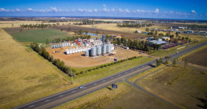 Associated Grain's Warrego Highway grain site.